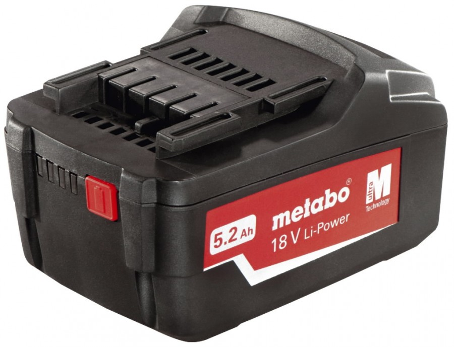 Metabo 18 V, 5,2 Ah, Li-Power